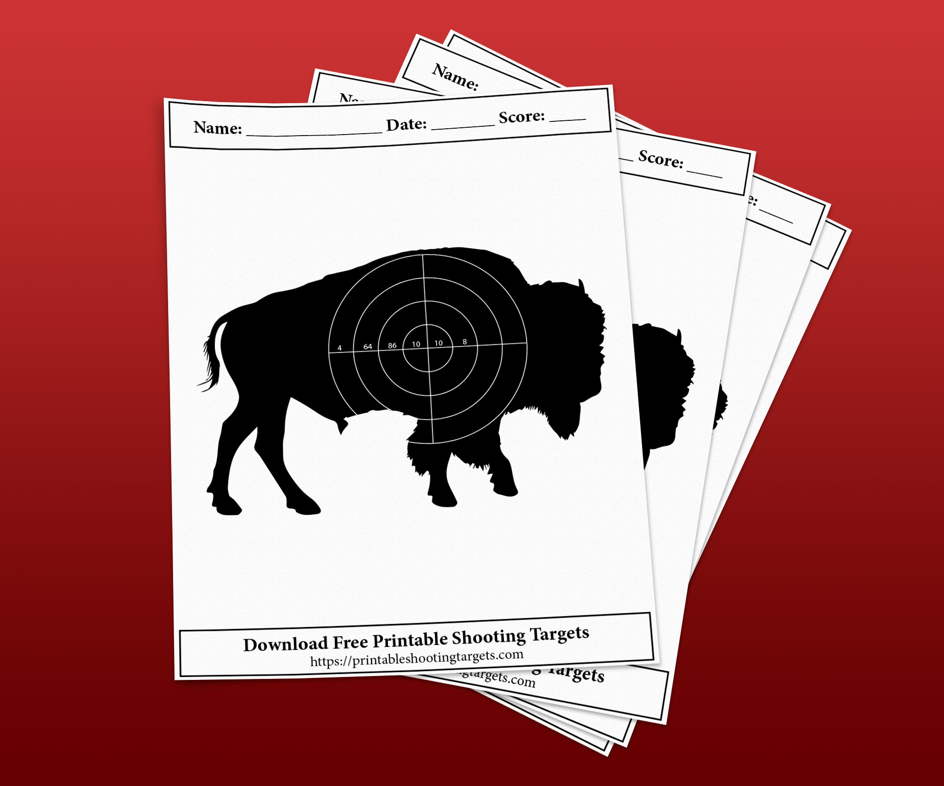 Bison-Printable-Shooting-Targets