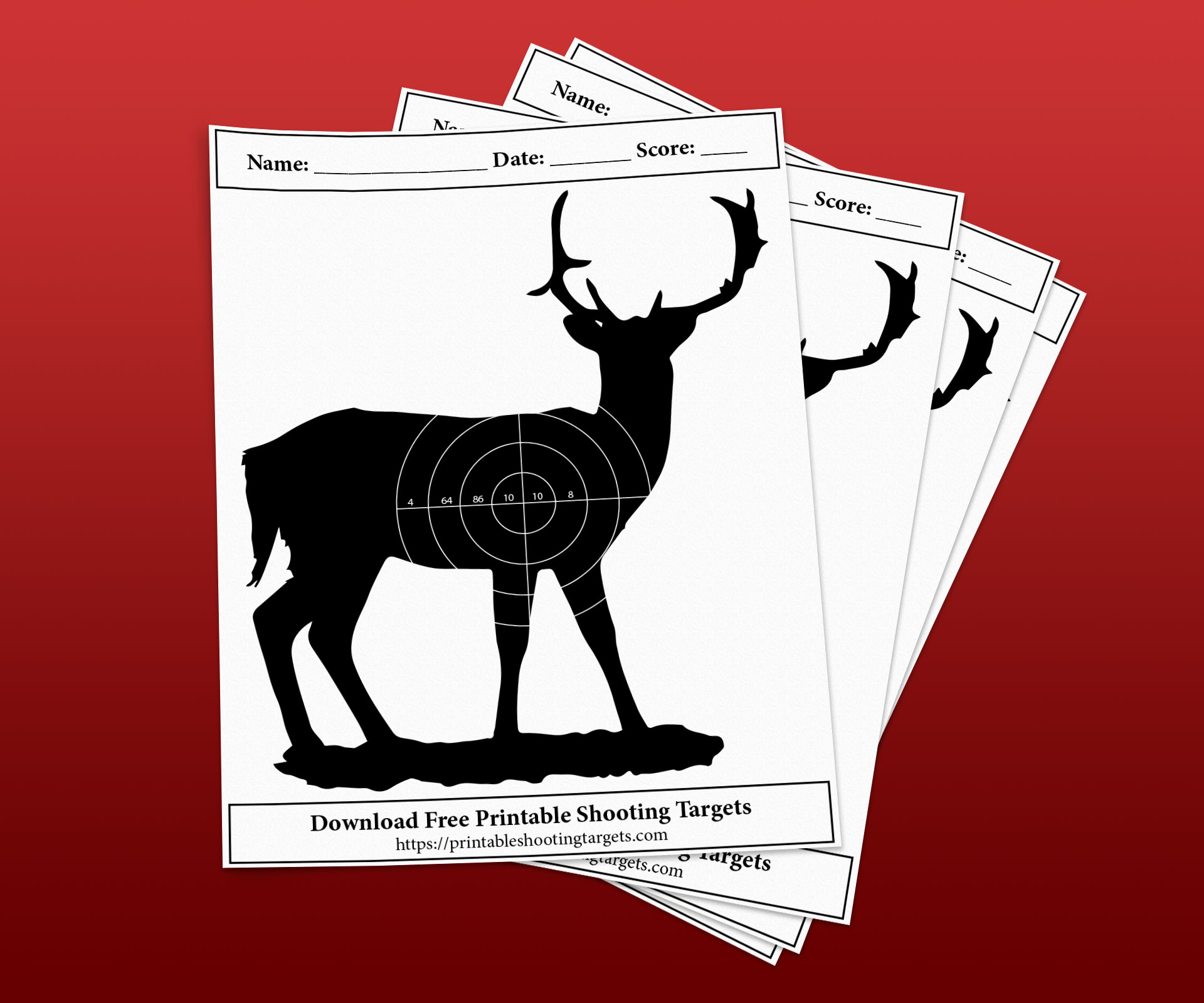 Deer-Printable-Shooting-Targets