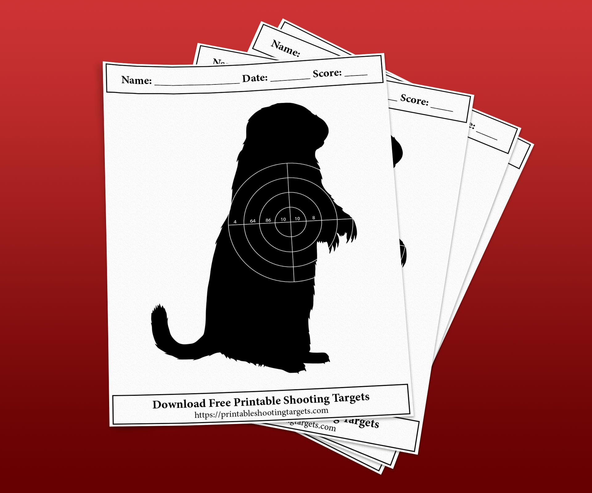 Groundhog-Printable-Shooting-Targets