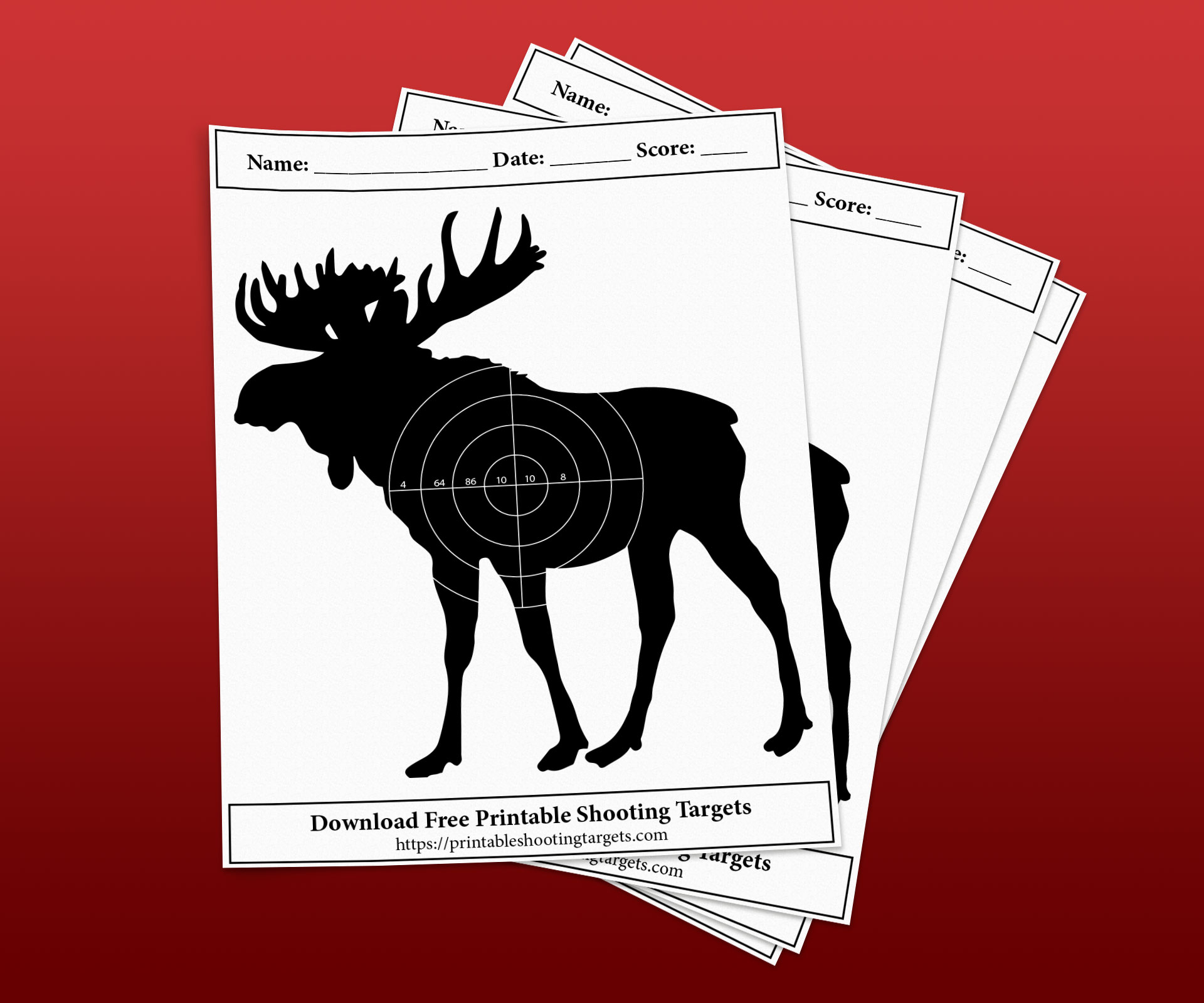 Moose-Printable-Shooting-Targets