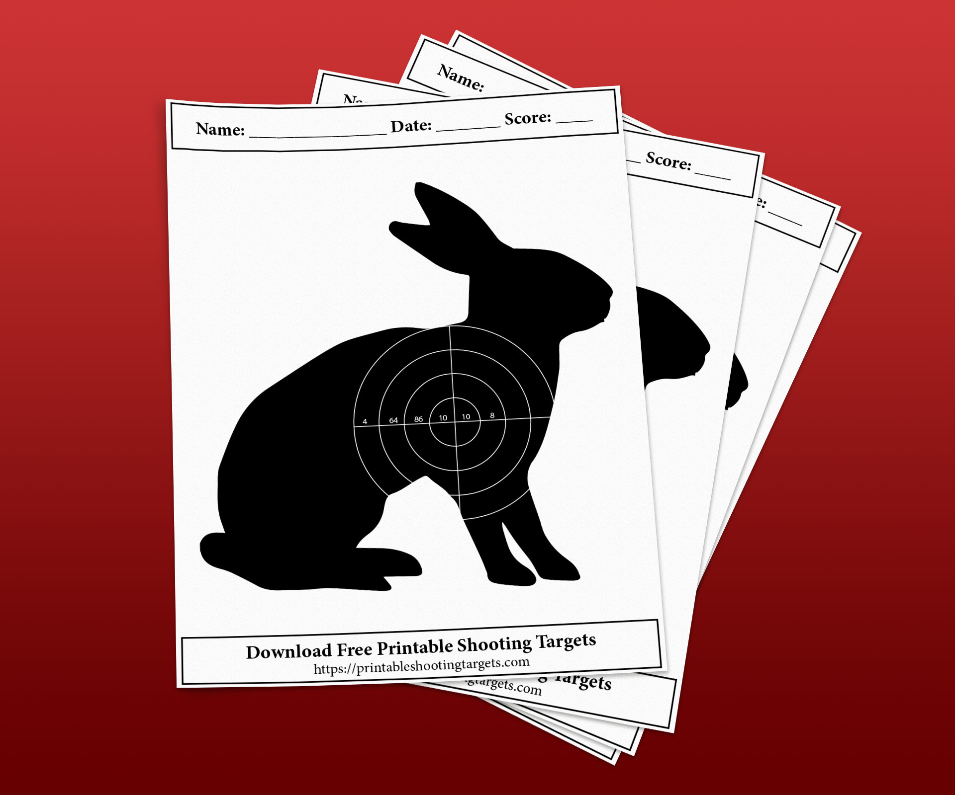 Rabbit-Printable-Shooting-Targets