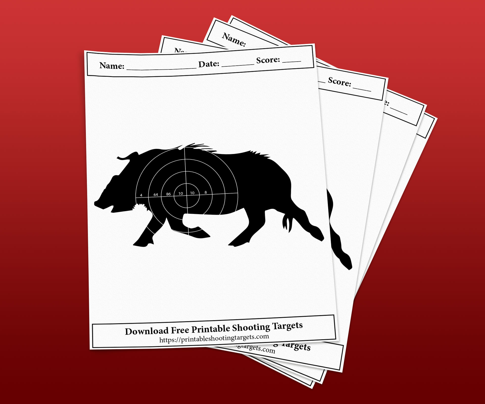 Wild-Boar-Printable-Shooting-Targets